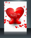 Piękny broszurki karty odbicie dla valentine dnia serca Zdjęcia Stock