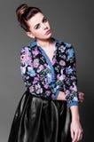 Piękny brunetka portret Zdjęcia Stock