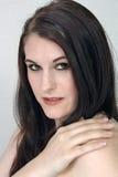 Piękny, brunetki Headshot Zdjęcia Stock