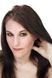 Piękny, brunetki Headshot Obrazy Royalty Free