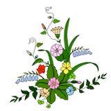 piękny bukiet kwitnie dzikiego Ilustracja Wektor