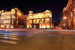 piękny bund noc shangha widok Obraz Royalty Free