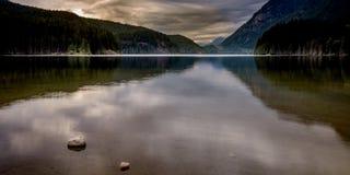 Piękny Buntzen jezioro BC Kanada Obrazy Royalty Free