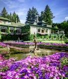 Piękny burchart ogródu park Wiktoria BC Kanada Obraz Stock