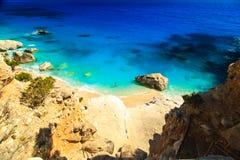 Piękny Cala Goloritzè w Sardinia Obraz Stock