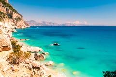 Piękny Cala Goloritzè w Sardinia Fotografia Royalty Free