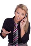 Piękny centrum telefoniczne operator Zdjęcia Royalty Free