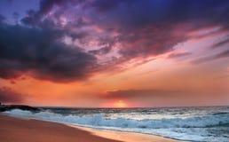 Piękny cloudscape i morze Zdjęcie Stock