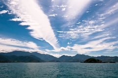 Piękny Cloudscape Nad brazylijczyka krajobraz Fotografia Royalty Free