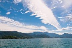 Piękny Cloudscape Nad brazylijczyka krajobraz Obraz Royalty Free