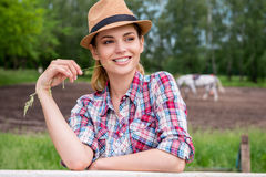 Piękny cowgirl Zdjęcie Royalty Free