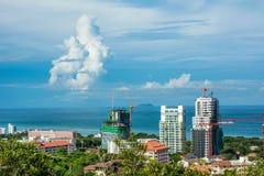 Piękny denny miasto Pattaya, Tajlandia Obrazy Royalty Free