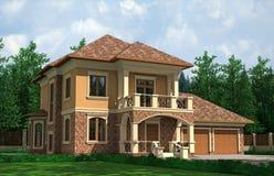 piękny dom Fotografia Royalty Free