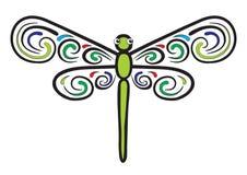 piękny dragonfly który uskrzydla ilustracji