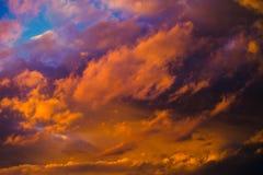 Piękny dramatyczny zimy cloudscape Fotografia Royalty Free