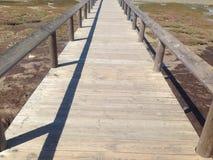 Piękny drewniany most zdjęcie royalty free