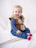 Piękny dziecko w kamizelkowym fotografia royalty free
