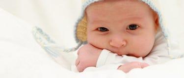 Piękny dziecko w kapeluszu Zdjęcia Stock