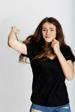 Piękny dziewczyna boks Obrazy Royalty Free