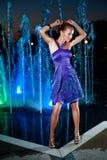 Piękny dziewczyna taniec Zdjęcia Royalty Free