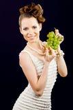 piękny dziewczyny winogron target1871_1_ Zdjęcia Stock