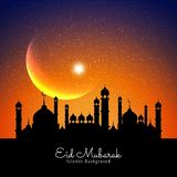 Pi?kny Eid Mubarak festiwalu Islamski t?o royalty ilustracja