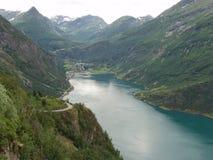 piękny fjord Obrazy Royalty Free