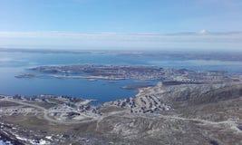 Piękny FromMountain Greenland Nuuk Woaw Fotografia Stock