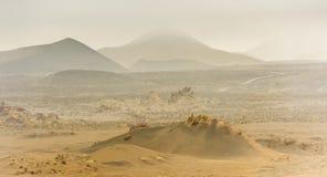 Piękny góra krajobraz z volcanoes Obraz Stock