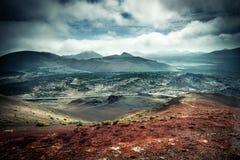 Piękny góra krajobraz z volcanoes Zdjęcia Stock
