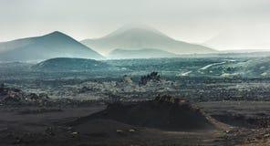 Piękny góra krajobraz z volcanoes Fotografia Stock