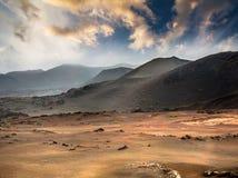 Piękny góra krajobraz z volcanoes Zdjęcie Stock