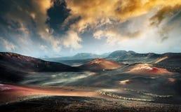 Piękny góra krajobraz z volcanoes Fotografia Royalty Free