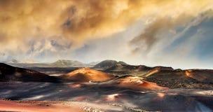 Piękny góra krajobraz z volcanoes Obrazy Stock