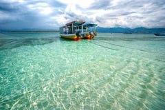 piękny gili Indonesia meno morze Fotografia Stock
