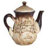 piękny gliniany teapot Zdjęcie Royalty Free