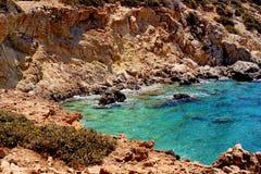 Piękny Greece, cudowna wyspa i morze, Obraz Royalty Free