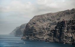 Piękny halny szczyt Los Gigantes w Tenerife krajobrazowy halny Tenerife Zdjęcia Stock