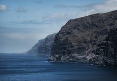 Piękny halny szczyt Los Gigantes w Tenerife krajobrazowy halny Tenerife Obrazy Stock