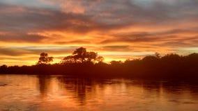 piękny hdr wizerunku rzeki zmierzch Obraz Royalty Free