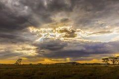 Piękny i dramatyczny afrykanina krajobraz Obrazy Stock