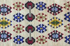 Piękny i wielo- coloured Pirot kilim Fotografia Stock