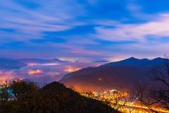 piękny ilustraci krajobrazu noc wektor Obrazy Stock