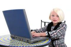 piękny interes laptopa stroju roboczego dziewczyna young Zdjęcie Stock