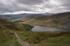 Piękny irlandczyka krajobraz z jeziornym Tay w przodzie Obrazy Royalty Free