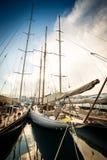 Piękny jachtu port Zdjęcia Stock