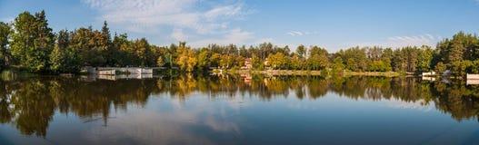 Piękny jezioro krajobraz Zdjęcie Stock