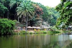 Piękny jezioro w Afryka Zdjęcia Stock