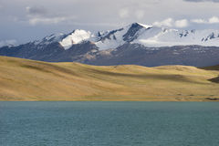 Piękny jezioro w Tsomoriri terenie, Leh, Ladakh, India Fotografia Stock