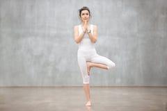 Piękny joga: Drzewna poza Zdjęcia Royalty Free